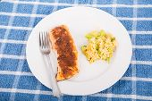 Broiled Salmon With Rice Casserole