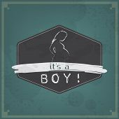 Retro Baby Card - Its A Boy Theme