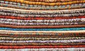 Cashmere shawls, close-up, texture