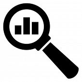 picture of spyglass  - Analytic vector icon  - JPG