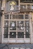 Abandoned Trade Of La Hacienda Coffe-bar In Reyes Catolicos Street, Granada, Spain