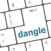 Dangle Word On Computer Keyboard Key