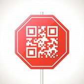 Stop Sign Design With Qr Code