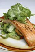 Pan seared fillet of salmon.