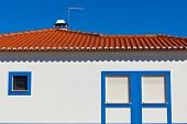 Unrecognizable Part Of Residential House At Algarve, Portugal.