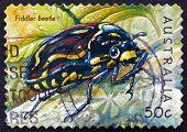 Postage Stamp Australia 2003 Fiddler Beetle