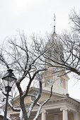 Historic courthouse in Old Town Warrenton in winter, Warrenton Virginia