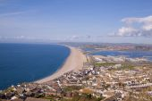 Looking over Weymouth, Portland and Chessel beach