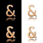 stock photo of ampersand  - Three dimensional wooden ampersand symbol - JPG