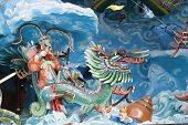 Chinese King Neptune Riding Dragon Diorama