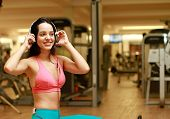 Young sport in gym