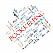 Bookkeeping Word Cloud Concept Angled