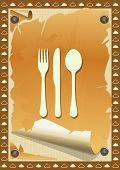 Restaurant Menu, Vintage Torn Paper. Illustration