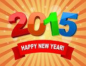 happy new year 2015 holiday background