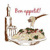 Pasta. Bon appetit!