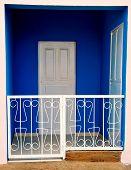 Vivid Blue Doorway