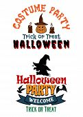 Постер, плакат: Halloween costume party banners