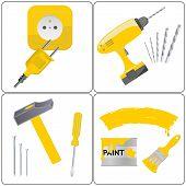 Household repair icons