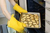 die Cookies aus dem Ofen