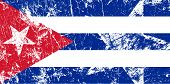 Grunge Cuban flag. Artwork vector illustration.