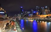 Melbourne skyline night