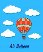 Air balloon in sky and clouds