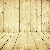 wood wall and wood floor interior
