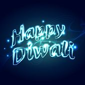 Vector stylish happy diwali text