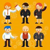 Different Vector Businessmen Characters