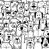 Dogs And Cats Seamless