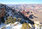 A Grand Canyon south rim winter view