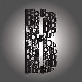 Letter B . Vector Illustration