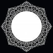 Round lace pattern. Mandala. Vector illustration.