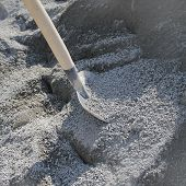 Shovel and gravel for construction