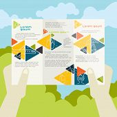 Flat Design, Brochure Template