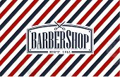 Vintage, Old Fashion styled Barber Shop - background