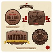 Premium Labels with calligraphic and typographic elements, frame