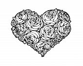 roses in shape of a heart