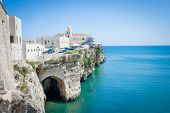 Church In Front Of Adriatic Sea In The Vieste Italy