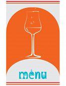 Menu Card Wine