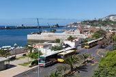 Busses And Construction Activities At The Harbor Of Madeira