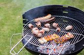 Barbecue Filled With Grilled Meat