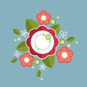 Decorative colorful floral composition.
