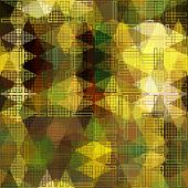 art abstract colorful geometric seamless pattern; background in gold, olive, brown and green colors