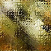 art abstract colorful geometric pattern background in gold, green, black and brown colors