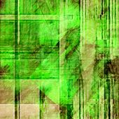 art abstract geometric textured colorful background with square in green and black colors