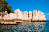 Idyllic Island Lagoon Boulders