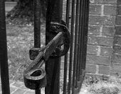 Iron Gate Latch in black & white
