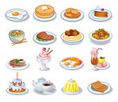 Food computer icons, good in a small size