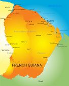 Vector color map of French Guiana country